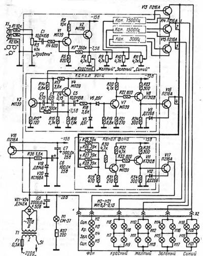 Приводятся схемы модулей с