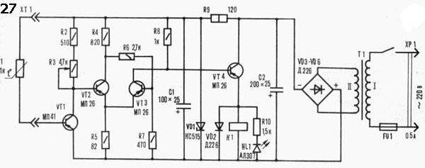 терморезистора R1